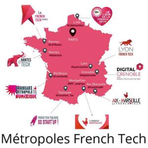 French Tech, les 10 premières Métropoles françaises