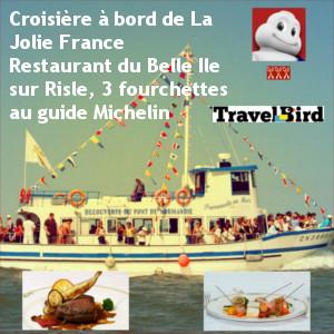 Croisière sur l'estuaire de la Seine et dîner dans un 3 fourchettes Michelin pour 2